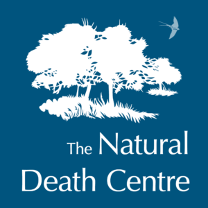 Badge to show Hannah is a member of the Natural Death Society